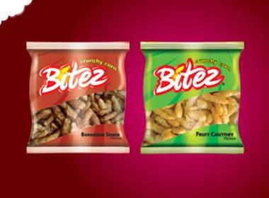 Bitez crunchy corn snacks