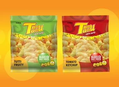 Tamu Tamu corn curls snack, corn snack