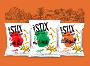 urban stix crunchy corn snack, corn snack